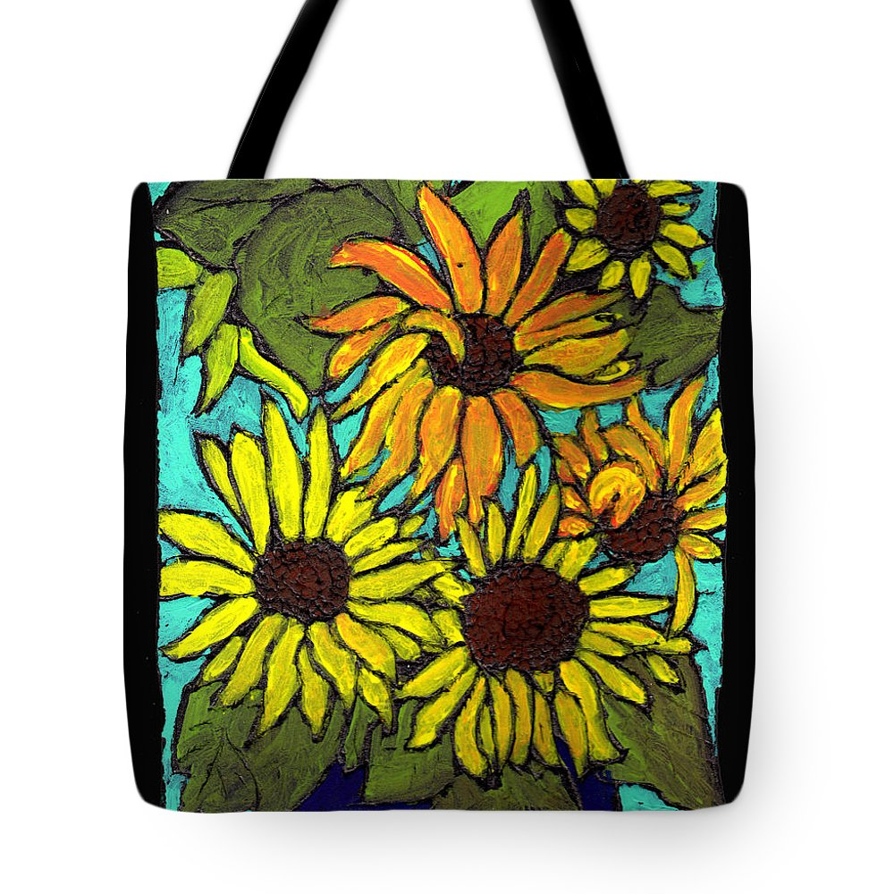 Flowers Tote Bag featuring the painting Boquet Of Sunshine by Wayne Potrafka