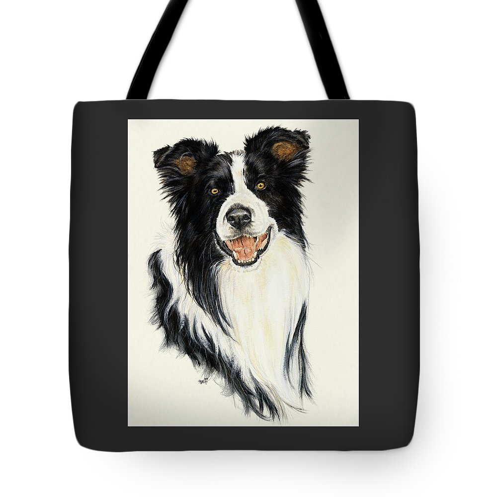 Collie Tote Bag featuring the painting Border Collie by Barbara Keith