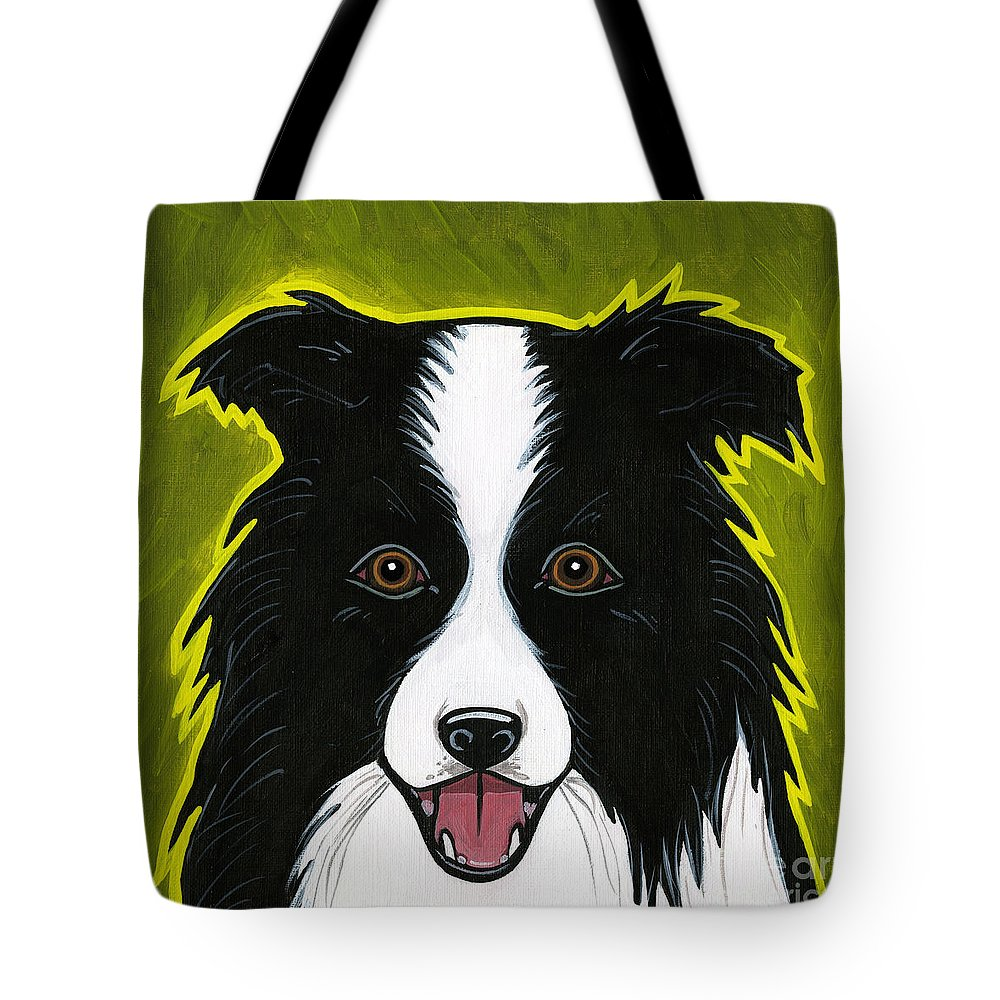 Border Collie Tote Bag featuring the painting Border Collie by Leanne Wilkes