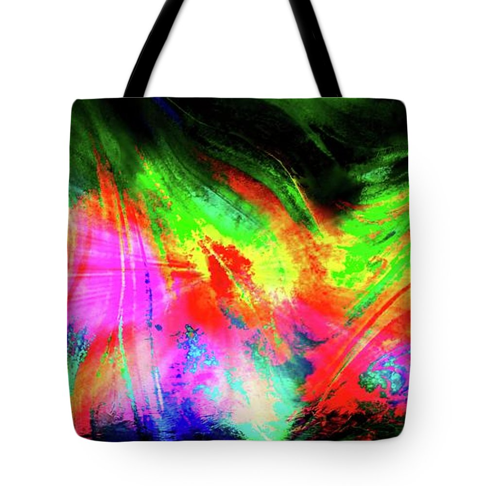 Aurora Borealis Tote Bag featuring the photograph Borealis Explosion Rupture by Tim G Ross
