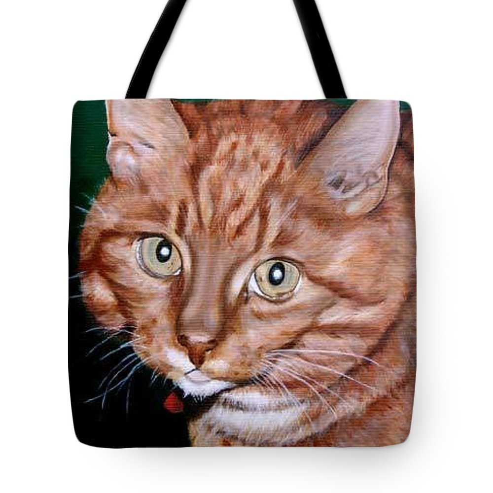 Pets Tote Bag featuring the painting Boris by Rob De Vries