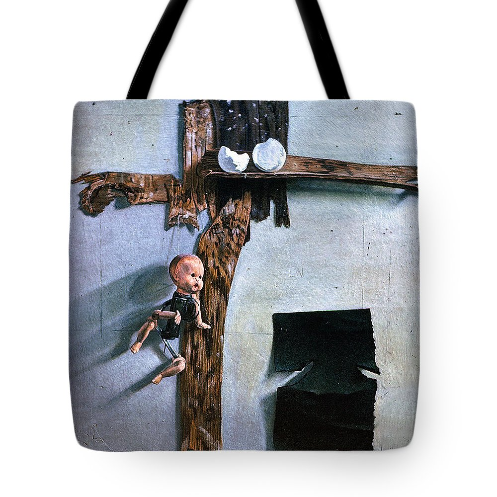 Born Again Tote Bag featuring the painting Born Again by John Lautermilch
