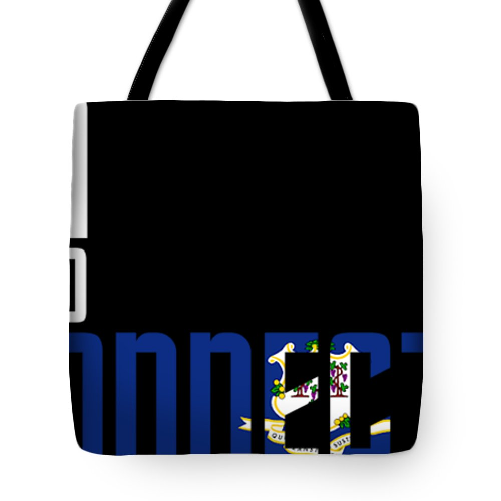Connecticut Tote Bag featuring the digital art Born And Raised In Connecticut Birthday Gift Nice Design by StyloMart Tees