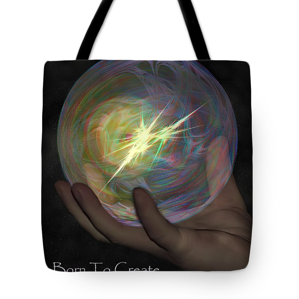 2d Tote Bag featuring the photograph Born To Create - View With Or Without Red-cyan 3d Glasses by Brian Wallace