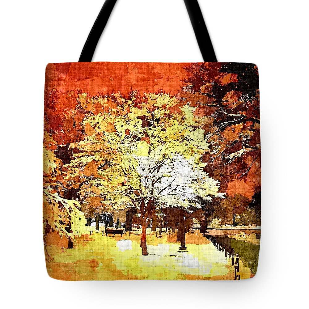 Impressionist Tote Bag featuring the painting Boston Winter by Rachel Niedermayer