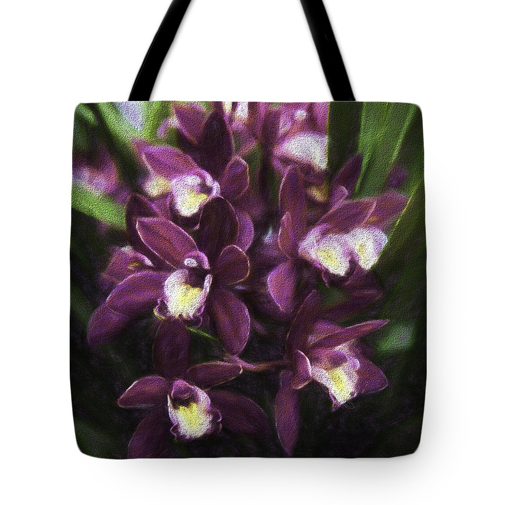 Orchids In Focus Tote Bag featuring the photograph Botanic Garden Orchid Bouquet 5 by Rebecca Snyder