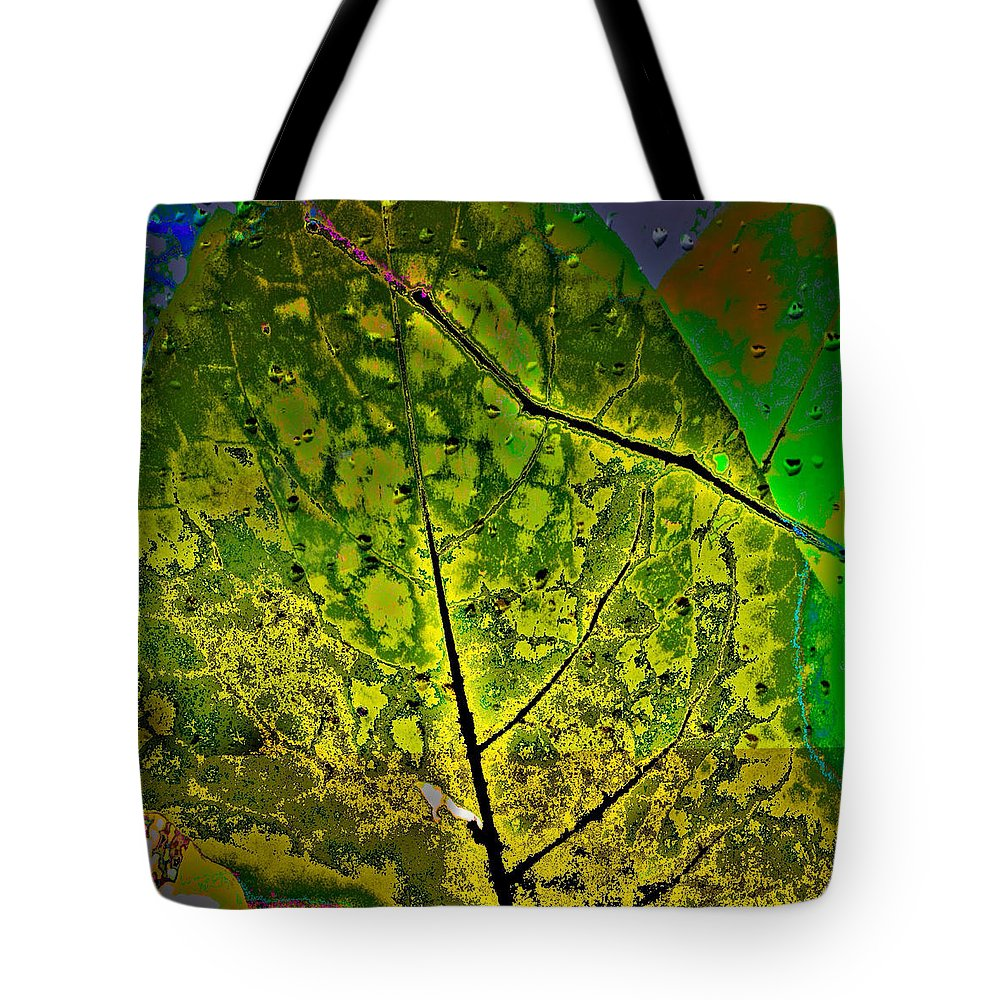 Green Tote Bag featuring the photograph Botanic Glow by Anthony Robinson