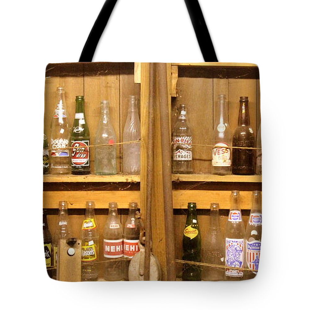 Botellas Antiguas Tote Bag featuring the photograph Botellas Antiguas by Ed Smith