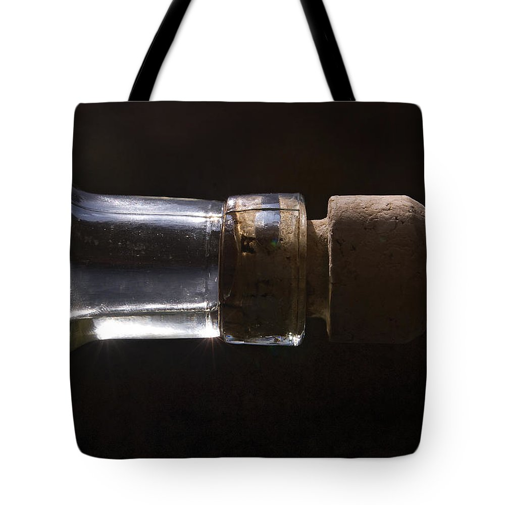 Cork Tote Bag featuring the photograph Bottle And Cork-1 by Steve Somerville