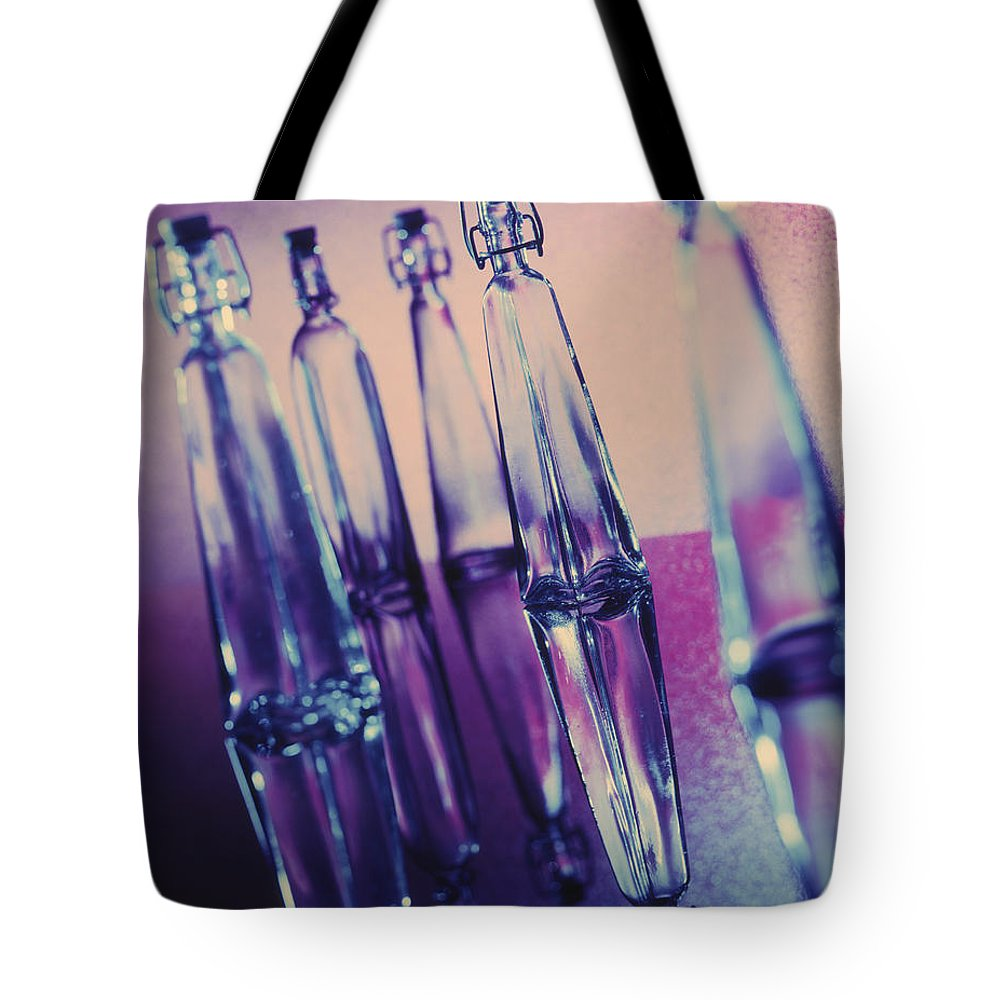 Bottles Tote Bag featuring the photograph Bottle Shapes by Kelley King