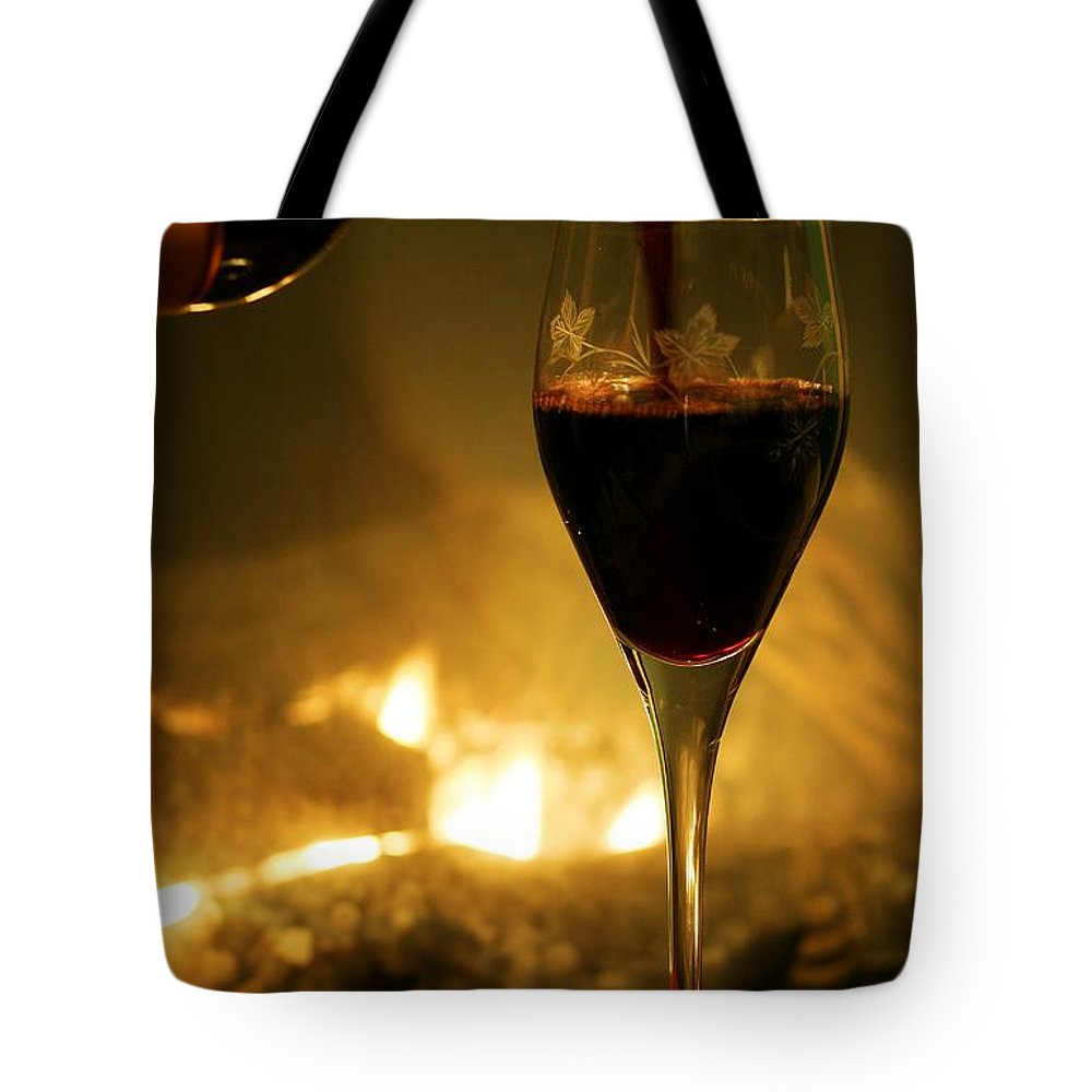 Wine Tote Bag featuring the photograph Bottled Poetry by Mitch Cat