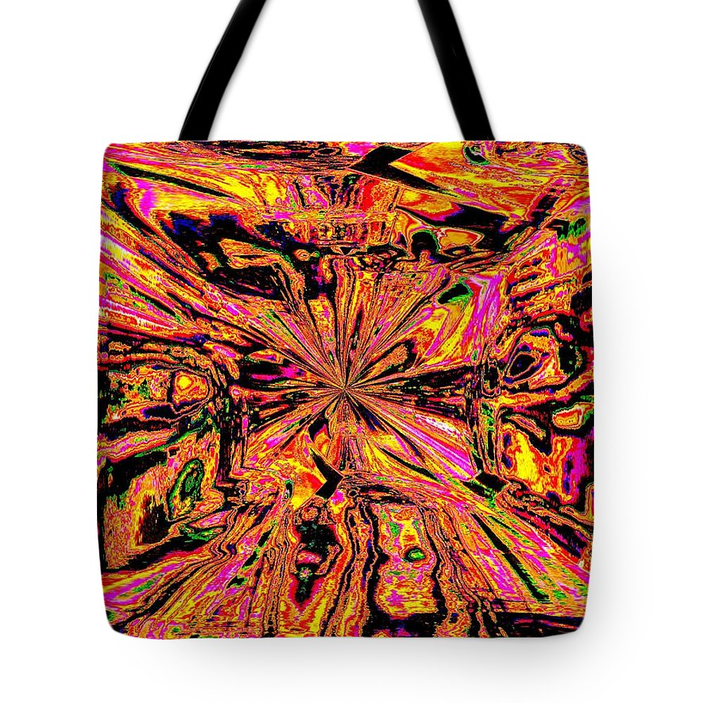 Abstract Tote Bag featuring the photograph Bottled Up by Tim Allen