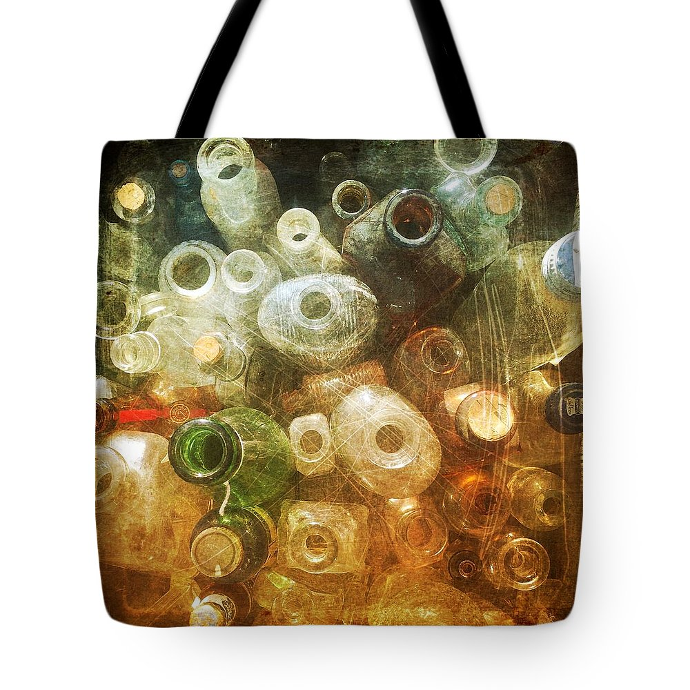 Bottles Tote Bag featuring the photograph Bottles by Modern Art