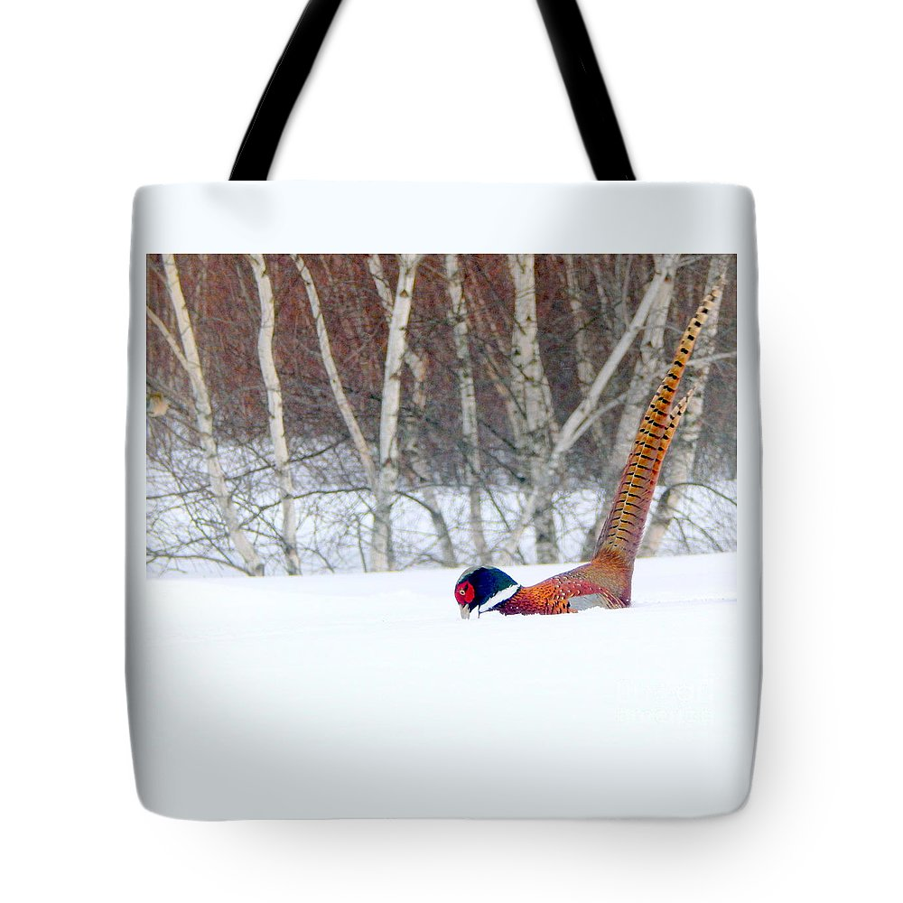Pheasant Tote Bag featuring the photograph Bottoms Up by Karen Cook