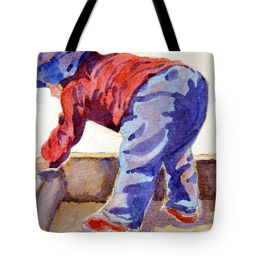 Child Tote Bag featuring the painting Bottoms Up by Marsha Elliott