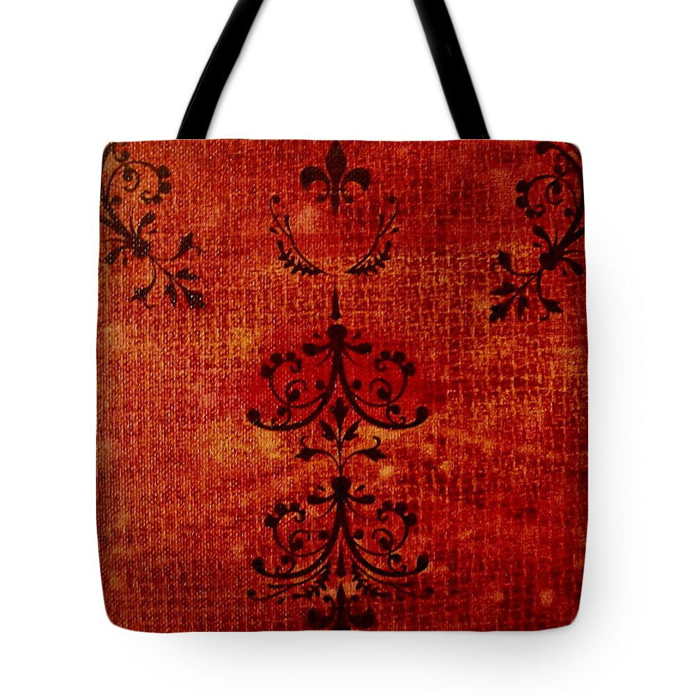Red Tote Bag featuring the painting Boudoir Three by Laurette Escobar