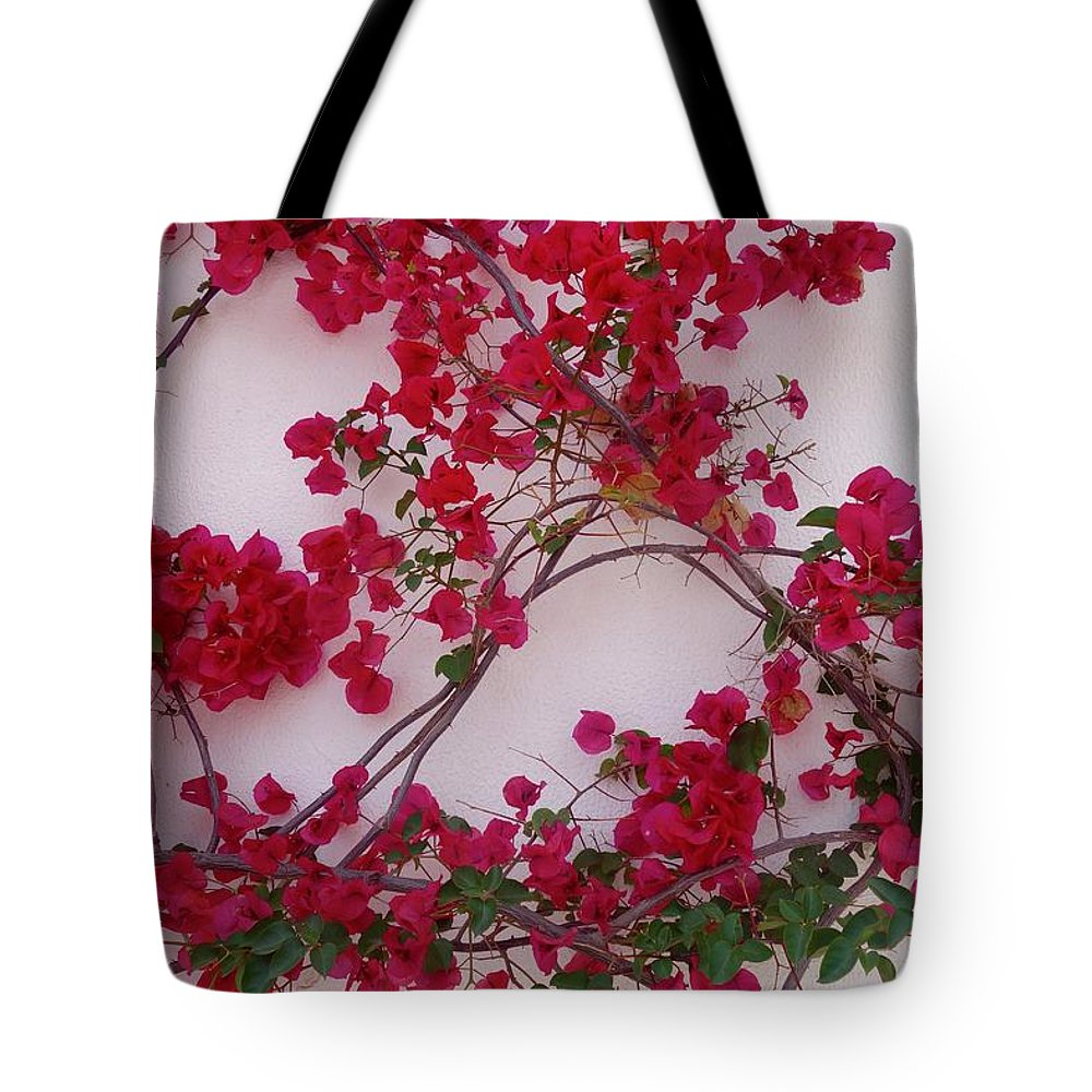 Bougainvillea Tote Bag featuring the photograph Bougainvillea Of Cascais, Portugal by Rauno Joks