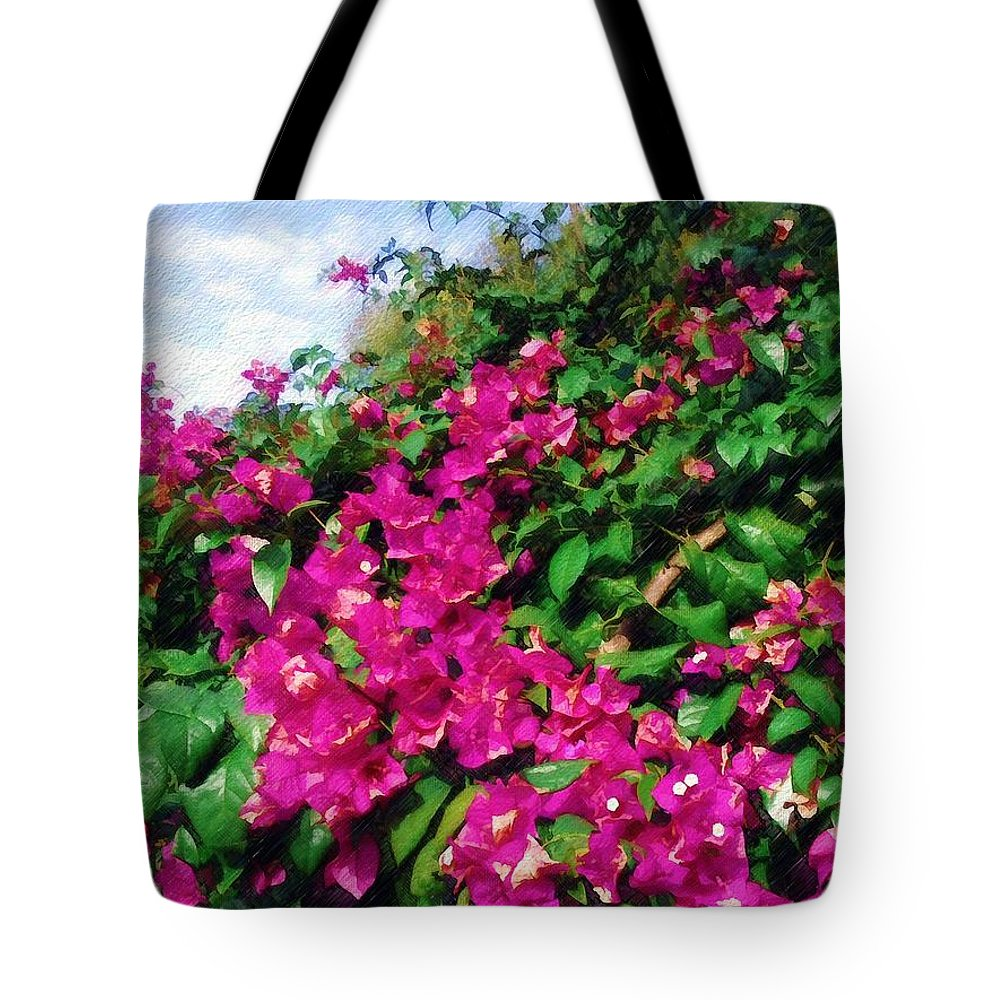 Bougainvillea Tote Bag featuring the photograph Bougainvillea by Sandy MacGowan