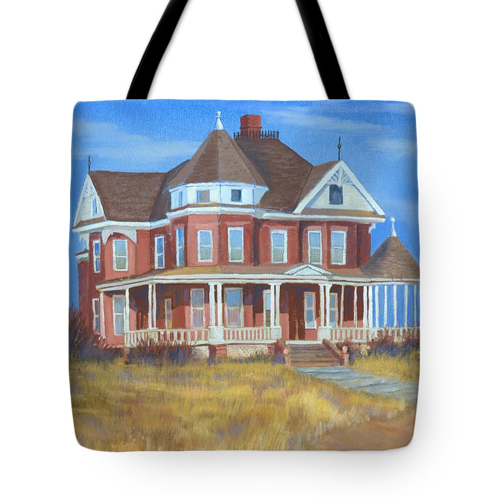 Boulder Tote Bag featuring the painting Boulder Victorian by Jerry McElroy