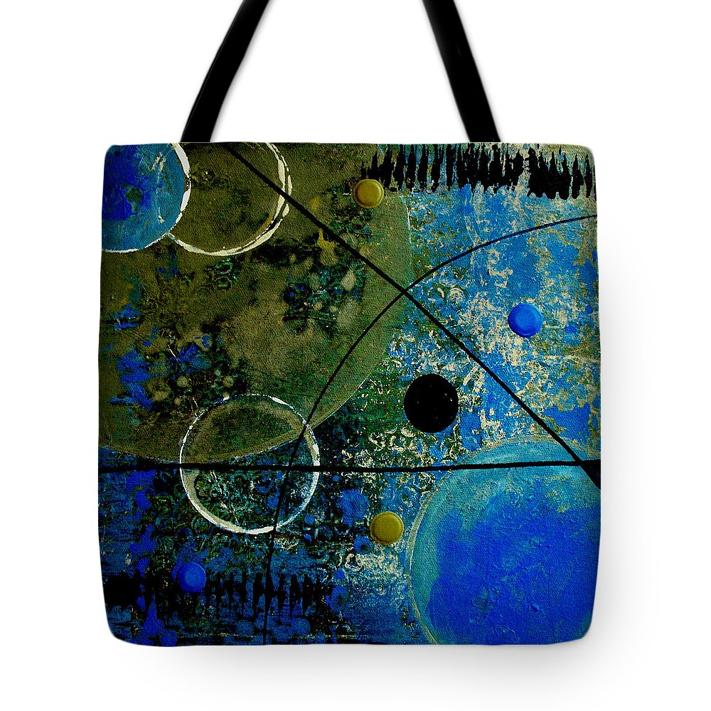 Abstract Tote Bag featuring the painting Bouncer by Ruth Palmer
