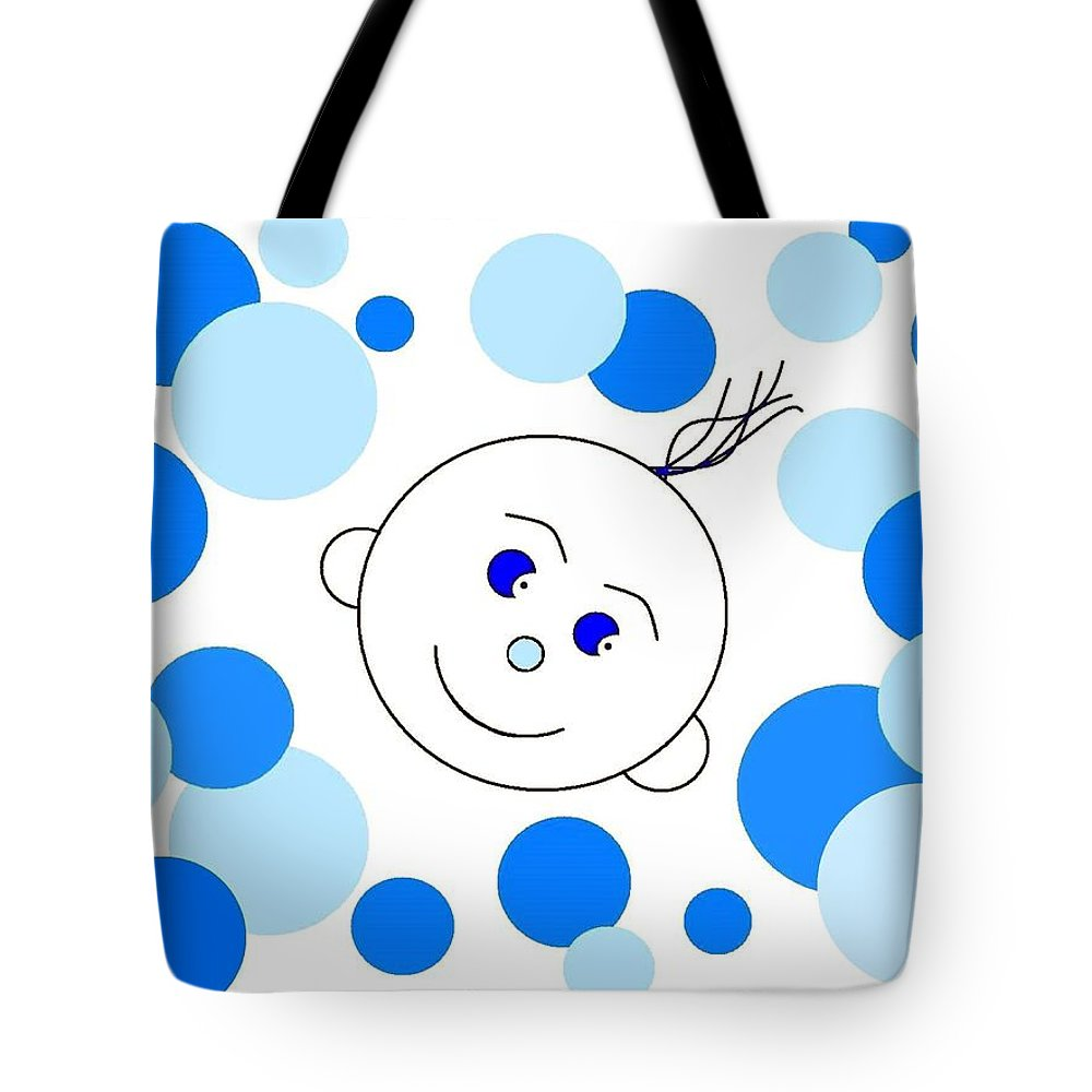 Abstract Tote Bag featuring the digital art Bouncing Baby Boy by Will Borden