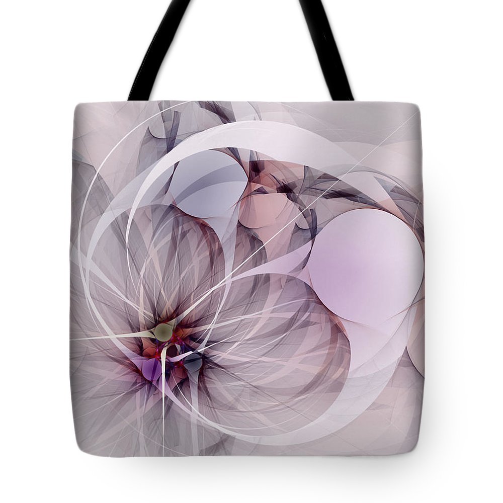 Abstract Tote Bag featuring the digital art Bound Away - Fractal Art by NirvanaBlues