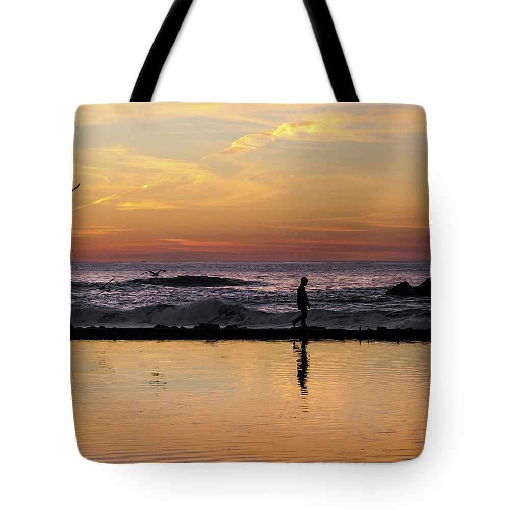 Water Tote Bag featuring the photograph Boundaries by Alex Lapidus