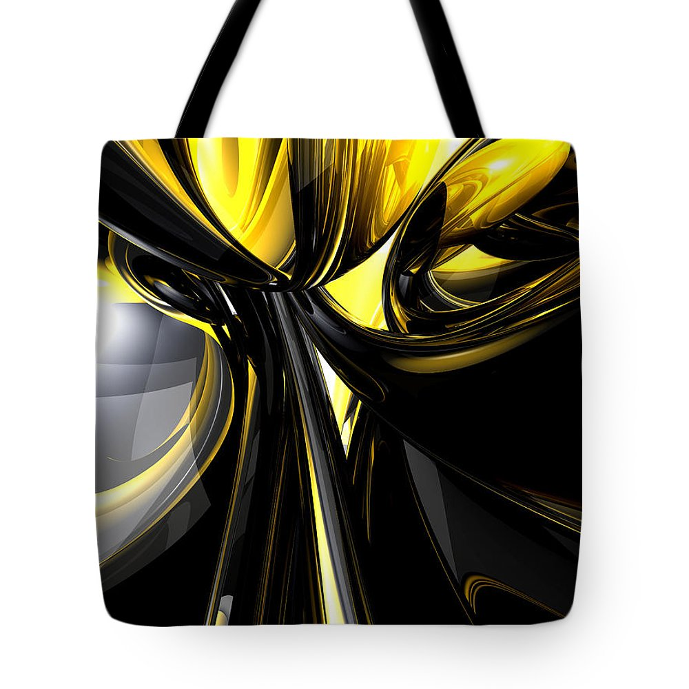 3d Tote Bag featuring the digital art Bounded By Light Abstract by Alexander Butler