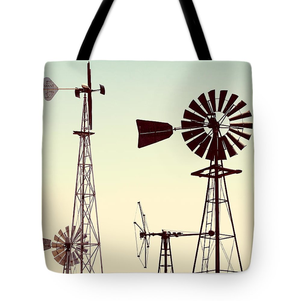 Windmills Tote Bag featuring the photograph Bountiful Windmills by Todd Klassy