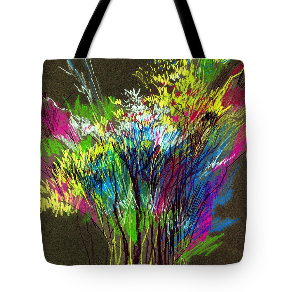 Flowers Tote Bag featuring the painting Bouquet by Anil Nene
