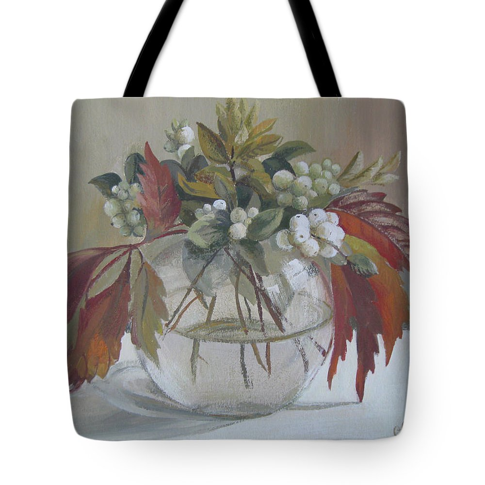 Still Life Tote Bag featuring the painting Bouquet by Elena Oleniuc