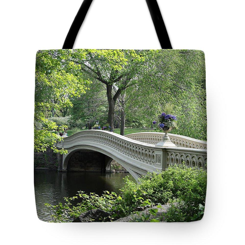 Bridge Tote Bag featuring the photograph Bowbridge Over Still Water by Christiane Schulze Art And Photography