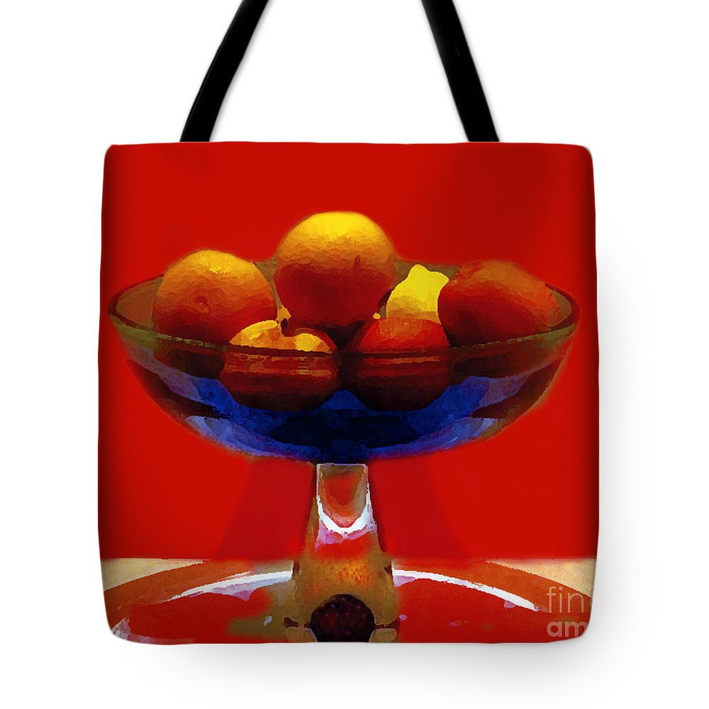 Bowl Tote Bag featuring the photograph Bowl Of Fruit by Madeline Ellis