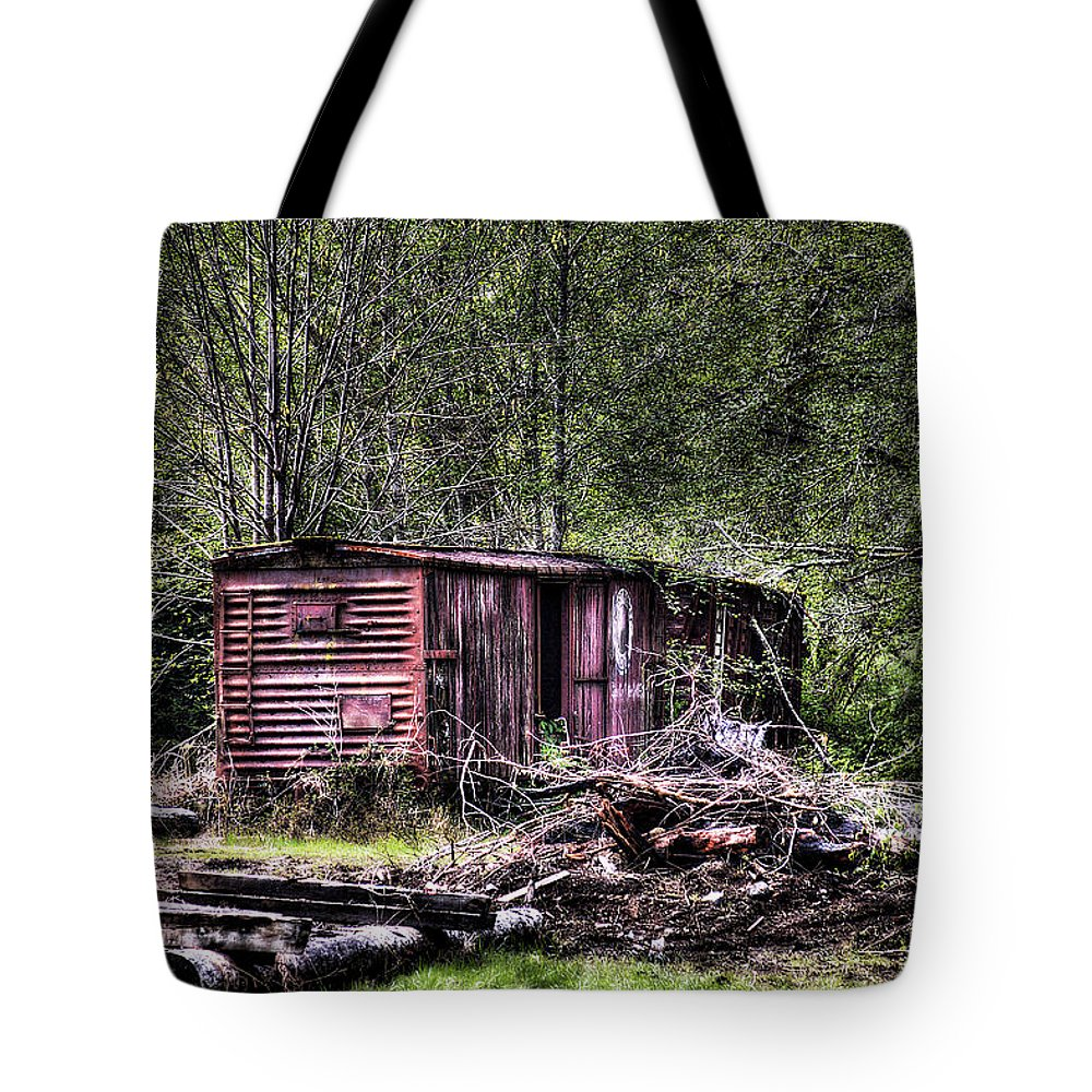 Camp 18 Tote Bag featuring the photograph Box Car by David Patterson