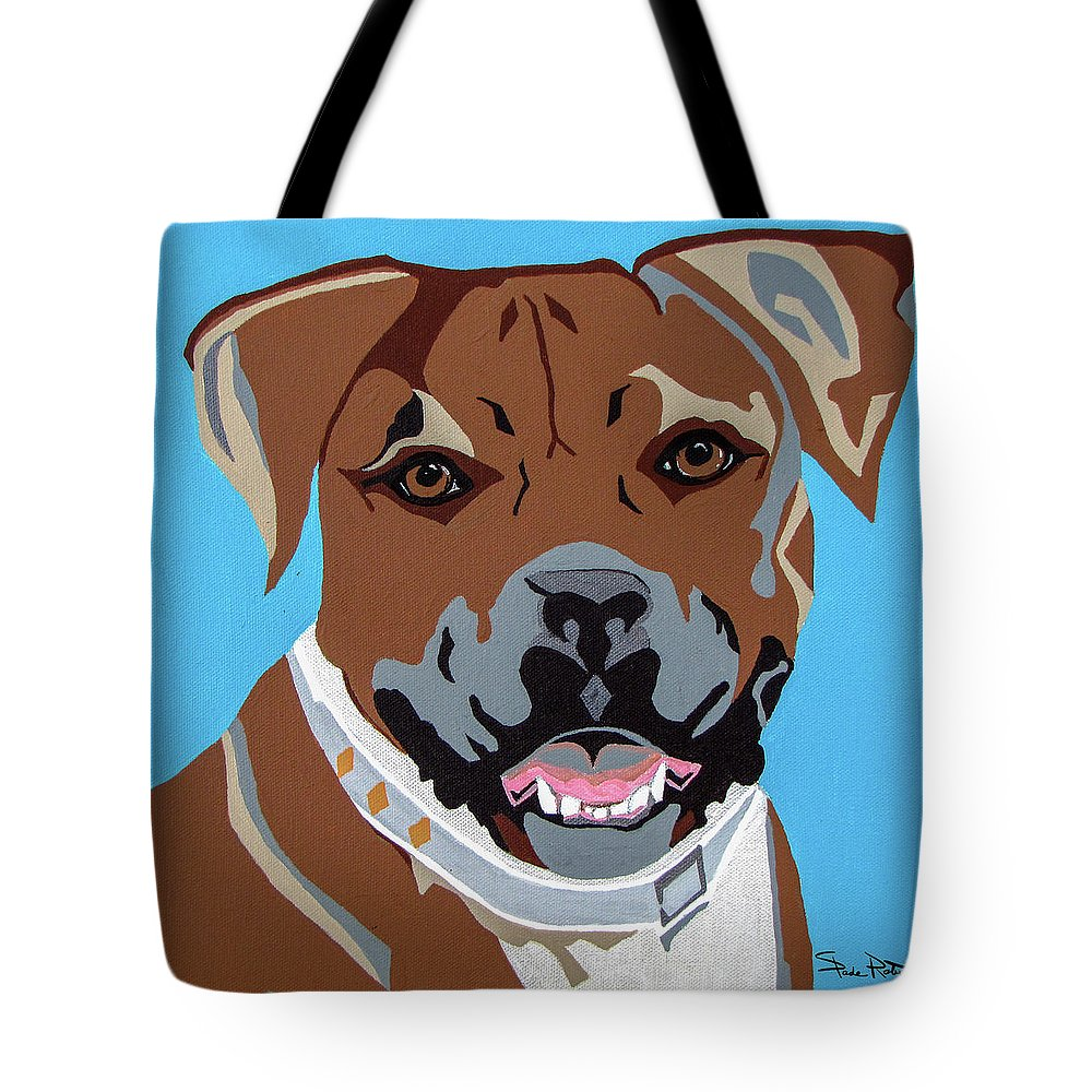 Boxer Tote Bag featuring the painting Boxer by Slade Roberts