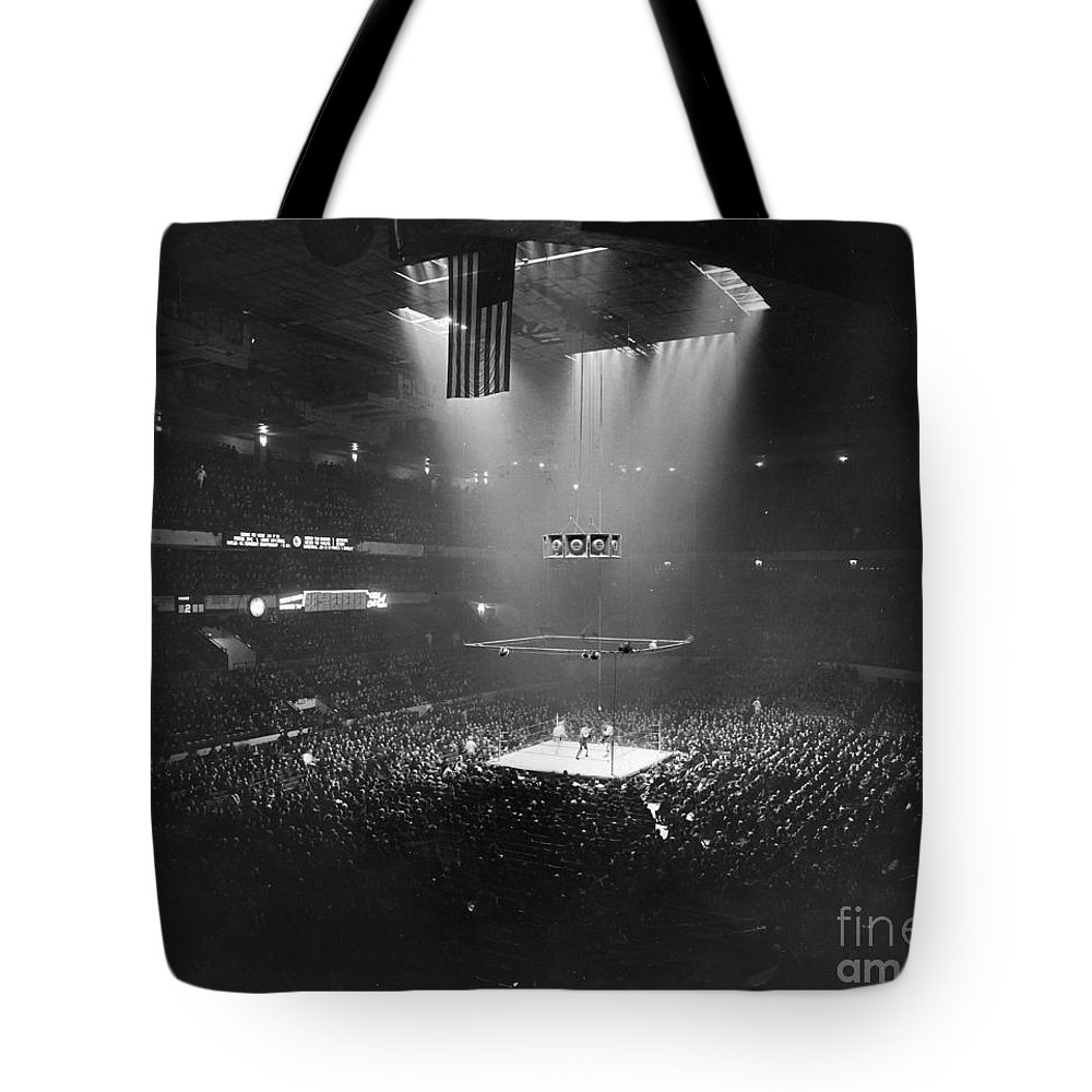 1941 Tote Bag featuring the photograph Boxing Match, 1941 by Granger