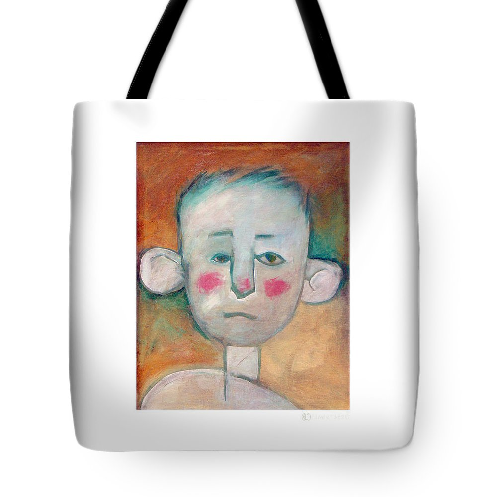 Boy Tote Bag featuring the painting Boy by Tim Nyberg