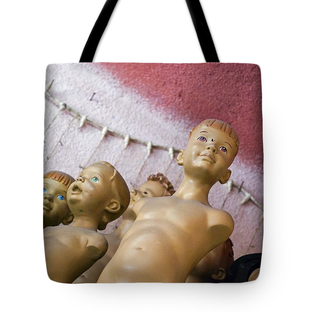 Boy Tote Bag featuring the photograph Boys Club by Skip Hunt