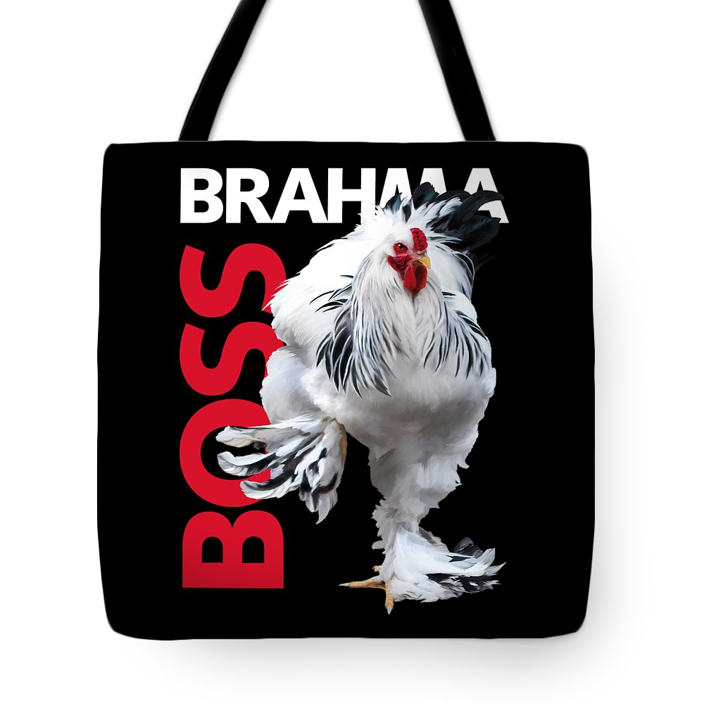 Brahma Tote Bag featuring the digital art Brahma Boss T-shirt print by Sigrid Van Dort