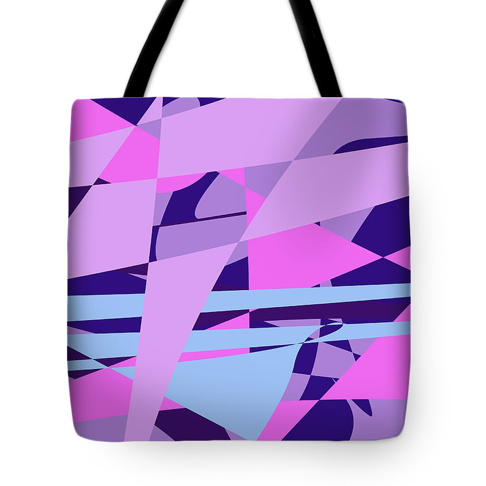 Abstract Tote Bag featuring the digital art Brain Storming by Laura Greco