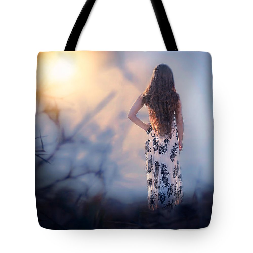 Girl Tote Bag featuring the photograph Brambledown by Michelle Monk