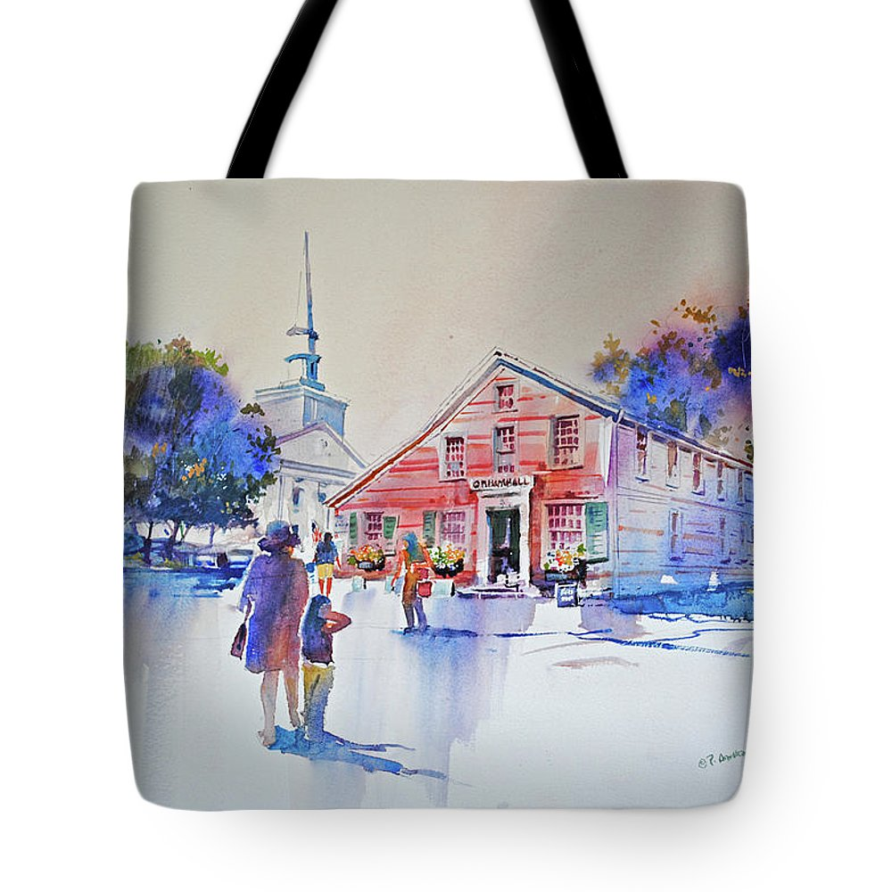 Visco Tote Bag featuring the painting Bramhall's Corner by P Anthony Visco