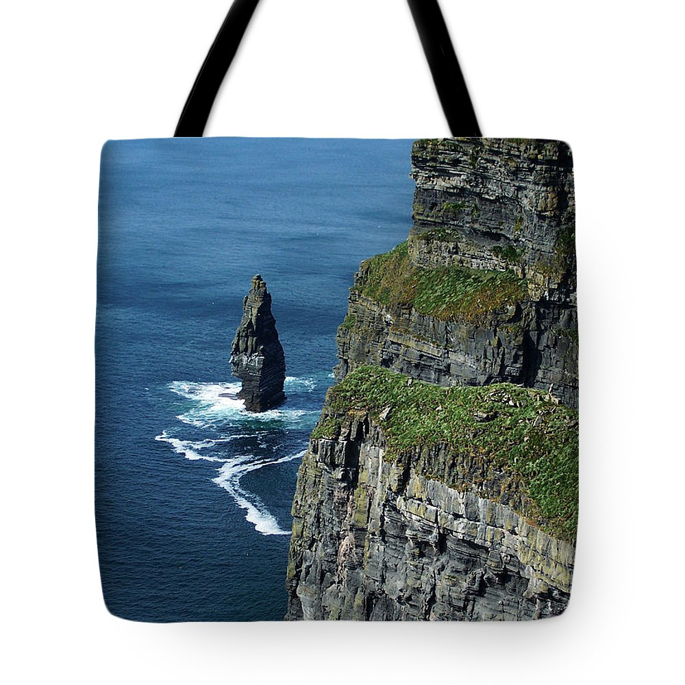 Irish Tote Bag featuring the photograph Brananmore Cliffs Of Moher Ireland by Teresa Mucha