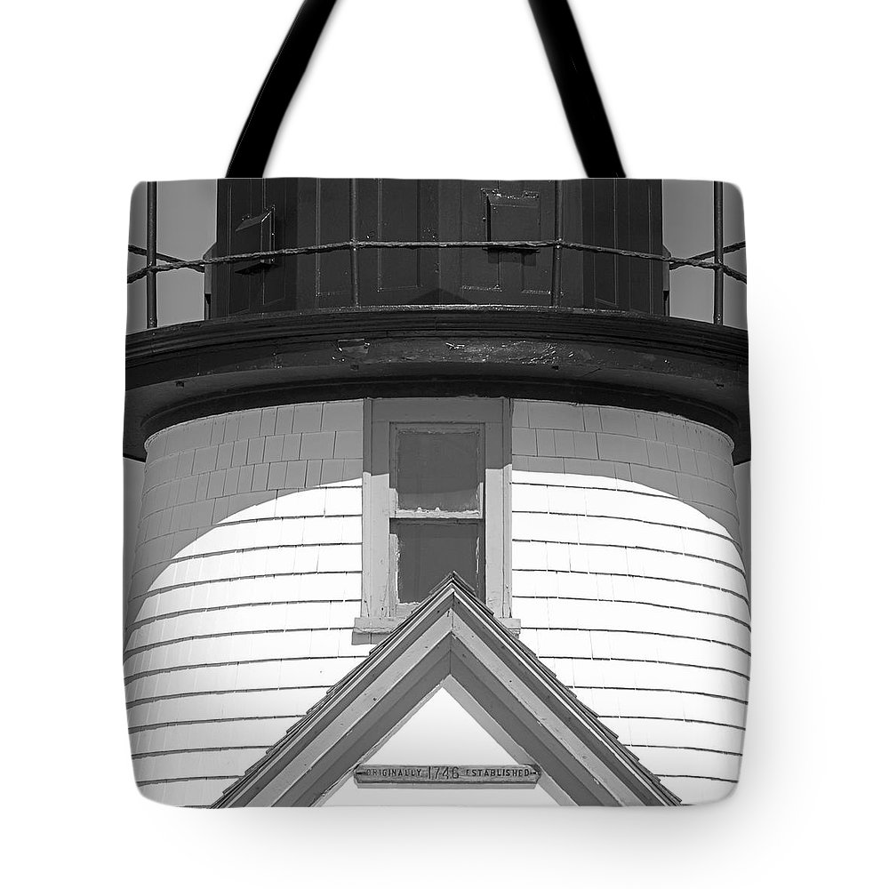 Nantucket Tote Bag featuring the photograph Brant Point Lighthouse Nantucket by Charles Harden
