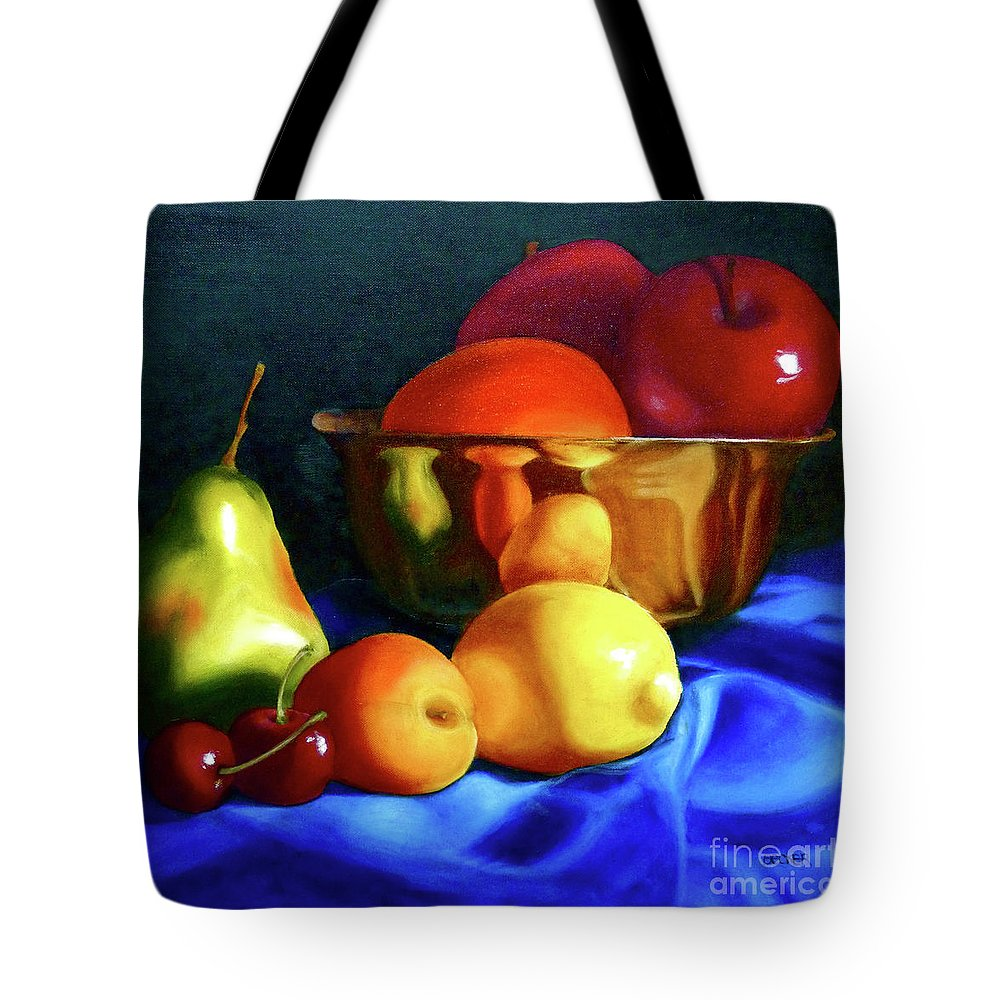 Still Llife Tote Bag featuring the painting Brass Ensemble by Susan A Becker