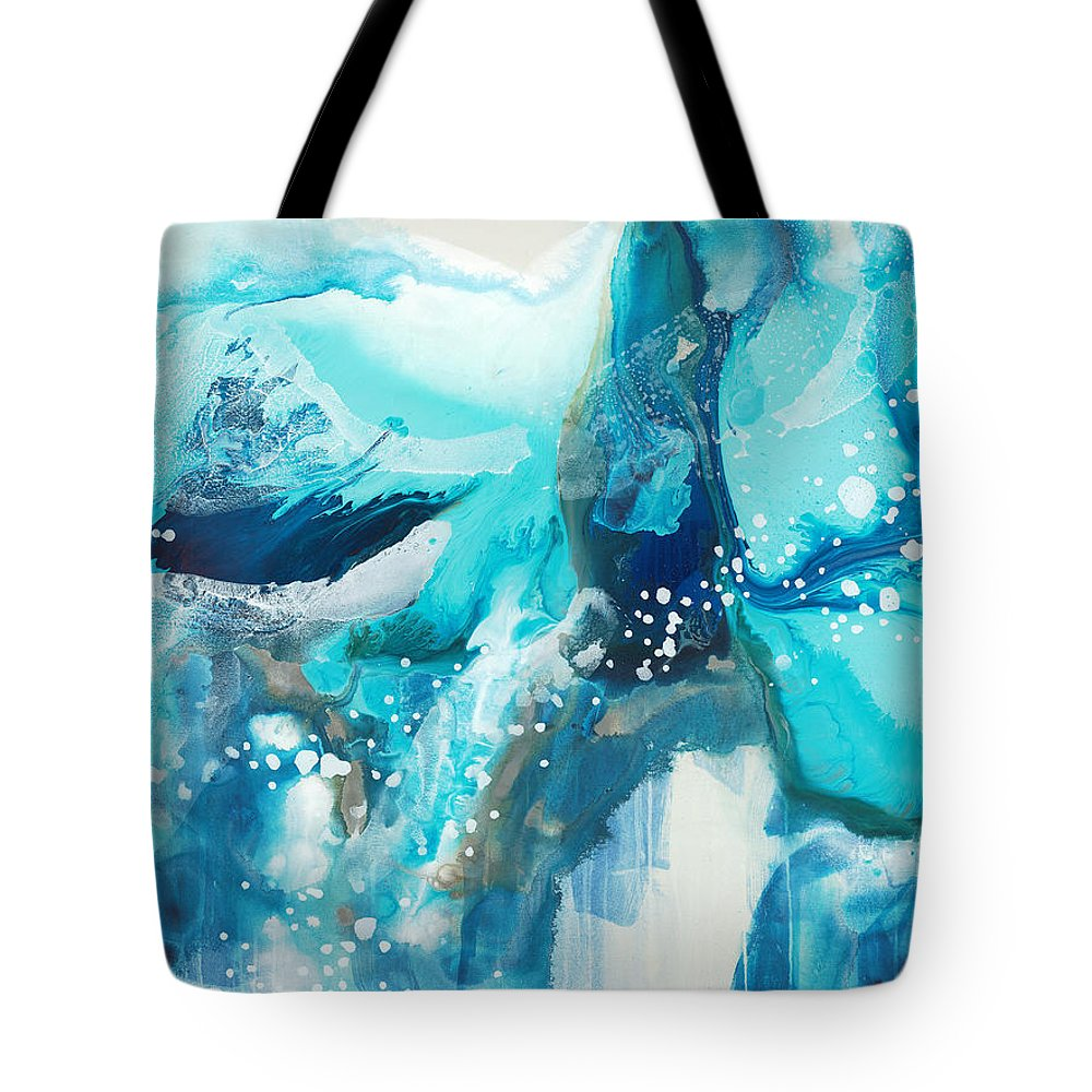 Abstract Tote Bag featuring the painting Brave Depths by Claire Desjardins
