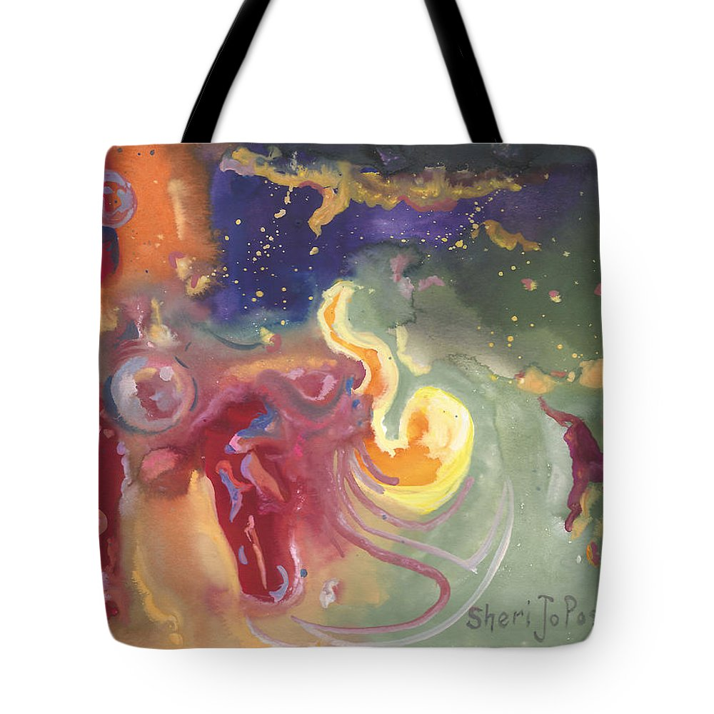 Brave The Unknown Tote Bag featuring the painting Brave The Unknown by Sheri Jo Posselt