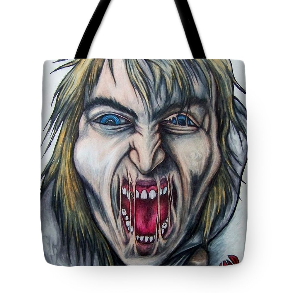 Tmad Tote Bag featuring the drawing Break The Silence by Michael TMAD Finney