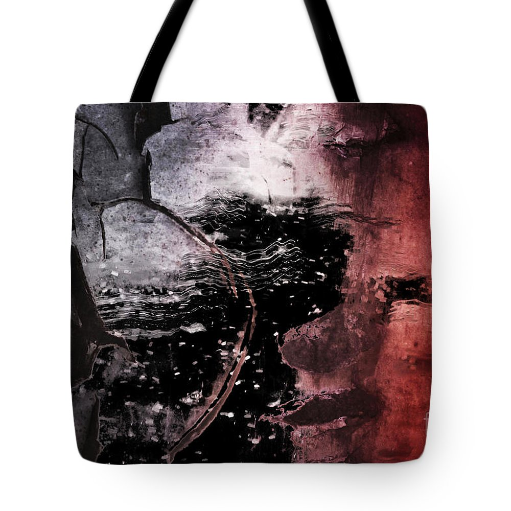 Abstract Photography Tote Bag featuring the digital art Break Through by Az Jackson