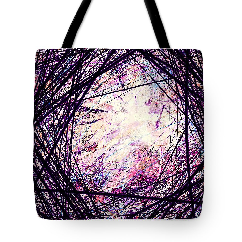 Abstract Tote Bag featuring the digital art Breakdown by William Russell Nowicki